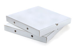 Piles of Pizza Boxes.